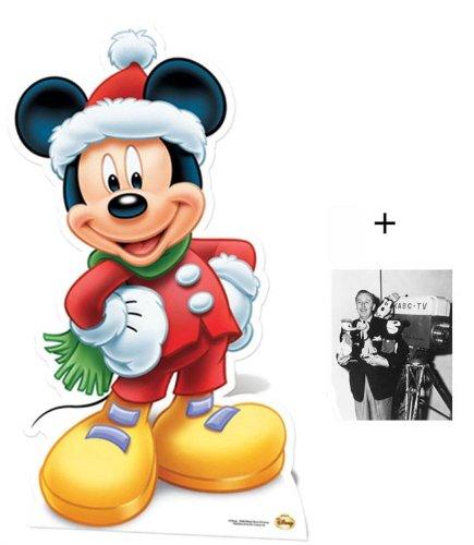 Mickey Mouse Santa Claus Lebensgrosse Pappfiguren / Stehplatzinhaber / Aufsteller - Enthält 8X10 (25X20Cm) Starfoto (Pappaufsteller Mouse Mickey)