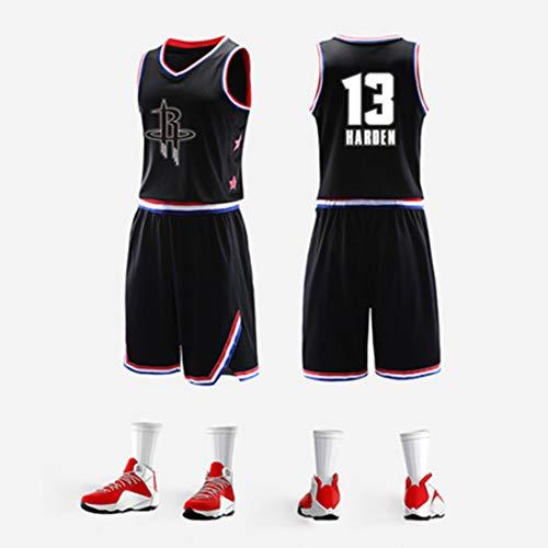 SHUAI NBA Männer T-Shirt 2019 All-Star-Jersey James Irving Basketballanzug Wettkampfanzug Sportweste,Black 1_L - All-star-jersey