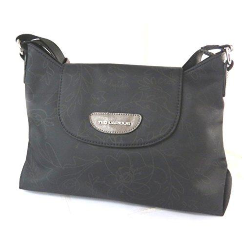 Bag designer 'Ted Lapidus'floreale nero - 39x21x10.5 cm.
