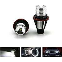 ZXREEK 2X E39 5W 6500K Blanco 200 Lumens LED  Alta Potencia Marcador Anillo Bombillas Faros Ojos De Angel Eyes Halo Anillo Para  5 6 7 Serie X3 X5 E53 E60 E63 E64 E65 E66 E83 525i 530i 745i 745li