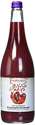 Granar 12 x 1 Liter Granatapfel Direktsaft, 100% Granatapfelsaft aus Granatapfelkernen, Naturtrüb, Ungefiltert -