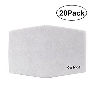 Owfeel Silicone Half Face Dust Respirator Mask Activated Carbon Particulate Filter, 20-Pack