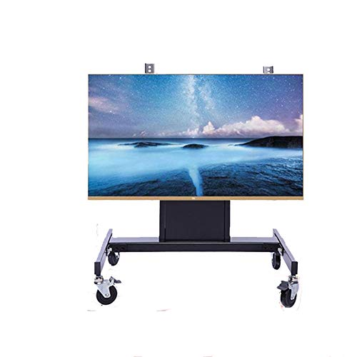 XUE Mobile TV-Display-Floor-Stand, TV-Cart für 32-63 Zoll LED LCD Plasma Flat Panels Höhe Adjust 360 º of Swivel with Wheels Mobile Home Office Bedroom Klassenzimmer Treffpunkt Raum Video Call -