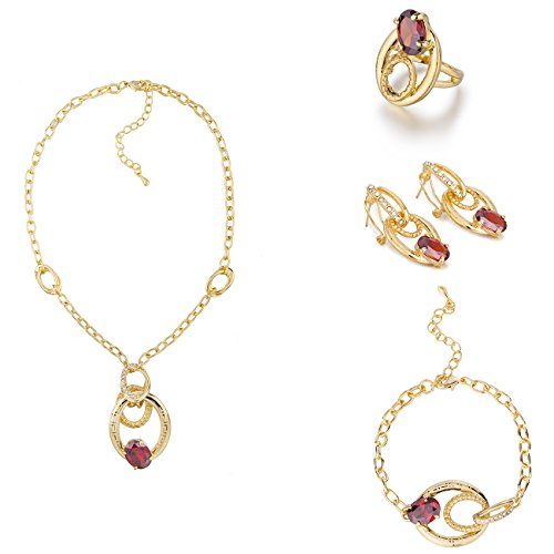 Janeo Jewellery Sets, Luxury 3 & 4 Pieces Uomo  14k Gold  rosso - (Rennie Mackintosh Gioielleria)