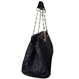Cavalli Class Medium Shopping Bag Blossom CRC005 Black