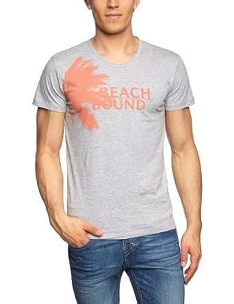 ESPRIT Herren T-Shirt Regular Fit 043EE2K008, Gr. 43/44 (XL), Grau (057 light grey melange)
