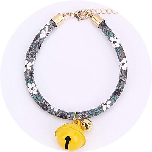 �r, Hundezubehör für Haustiere Tinkerbell Gifts Double Bell, für Haustier Hund Katze Halsband Tags,Gray,M ()