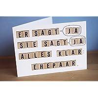 Hochzeit Karte Glückwunsch Karte Er sagt ja sie sagt ja Ehepaar Hochzeitskarte humorvoll