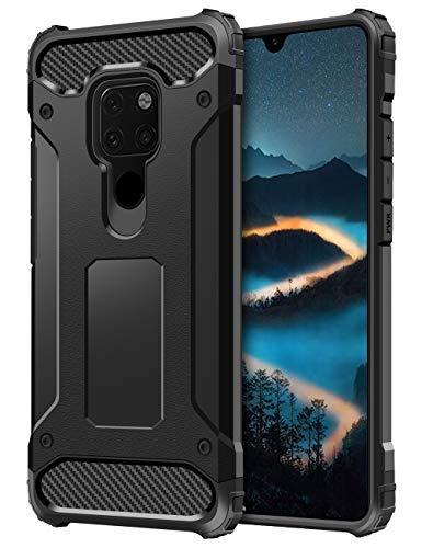 Coolden Huawei Mate 20 Hülle,Premium [Armor Series] Outdoor Stoßfest Handyhülle Silikon TPU + PC Bumper Cover Doppelschichter Schutz Hülle für Huawei Mate 20 (Schwarz)