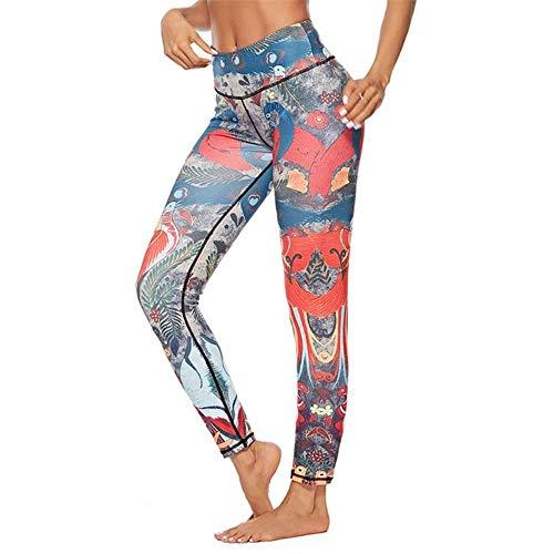 FANGNVREN Yoga Hose,Sport Yoga Sport Leggings für Frauen Tier gedruckt Yoga Yoga Hosen Leggings weiblichen Workout Hose Laufen Yoga Ausbildung Slim Hose, Photo Color, L198 (Gedruckt Tier Leggings)