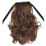 Damenperücken 40 cm/Dorical Frauen Haarteil Hairpiece Zopf Pferdeschwanz Haarverlängerung gewellt/Perücke für Karneval Fasching Cosplay Party Kostüm für Verschiedene Hautfarben