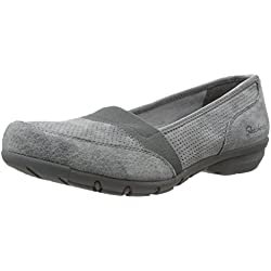 Skechers Cali Damen Career-Perfed Flat, Charcoal, 8 M US