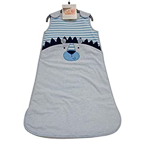 Pitter Patter – Saco de dormir para bebé (2,5 tog, para niños y niñas, 6 a 24 meses) azul Blue Lion Talla:6-12 meses