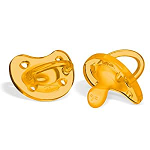 Chicco 00073021310000 Physio Soft Gommotto, Caucciù, 0-6 Mesi, Arancione, 2 Pezzi