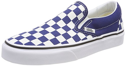 Vans Classic, Baskets Slip-On Mixte Adulte Bleu (Checkerboard)