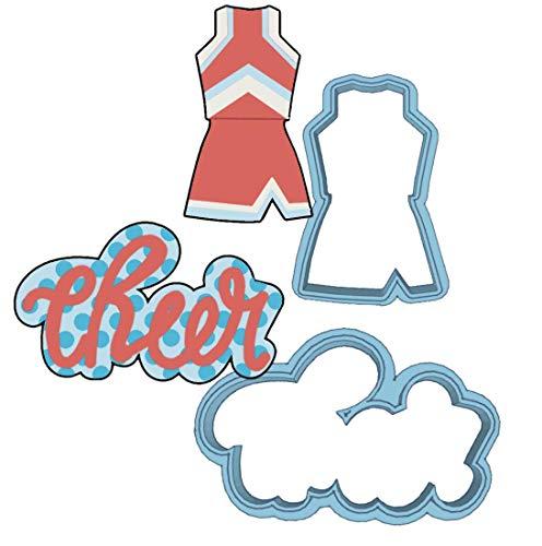 Cheerleading Ausstechformen-Set - American Confections - Cheerleader Uniform - Hergestellt in den USA