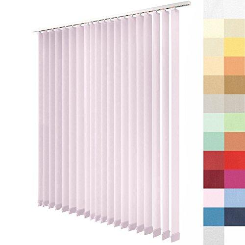 SUNWORLD Lamellenvorhang nach Maß, 27 Farben, alle Größen Lamellen, Maßanfertigung, inkl. Deckenschiene, Schiebevorhang, Vertikaljalousie (Hell Rosa, Muster)