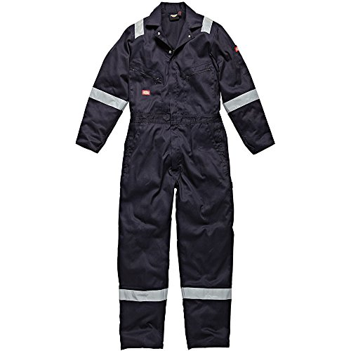 DICKIES MENS WORKWEAR COTTON COVERALL NAVY BLUE WD2279N
