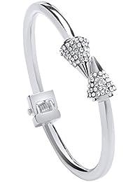 Front Row pulsera mujer color de plata con cristal