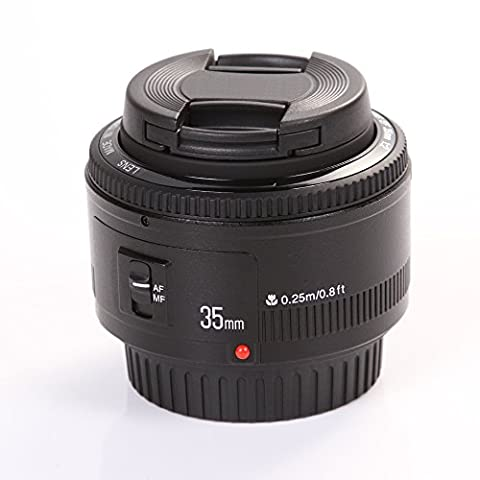 YONGNUO YN35 35mm F2 Festbrennweite Weitwinkel Objektiv mit EF Bajonett für Canon EOS 500D/600D/650D/700D/5D/5D Mark II/5D Mark III/5DS/5DS R/6D/7D/7D Mark II usw