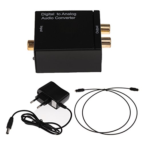 Imported Digital Optical Coaxial to Analog RCA Audio Converter - US Plug