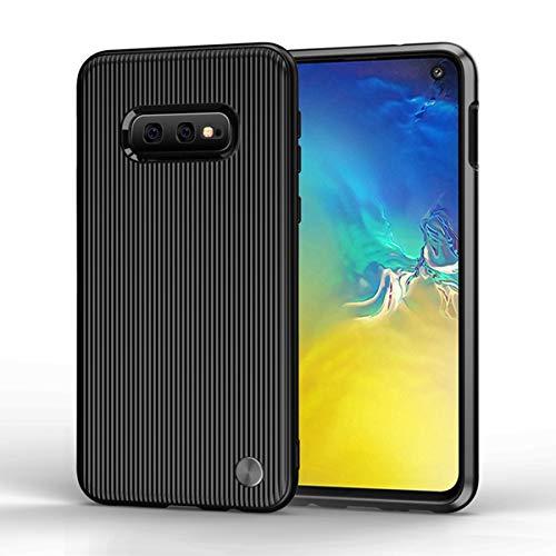 Wareba Hülle für Samsung Galaxy S10e Hülle,TPU Case Ultradünn Handyhülle Silikon Bumper Cover Tasche mit Stoßdämpfung & Carbon Faser Handyhülle für Samsung Galaxy S10e-Black