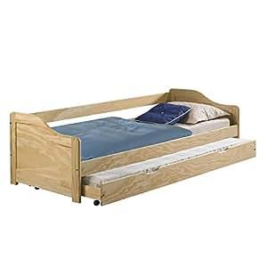 idimex funktionsbett lisa funktionsliege jugendbett mit bettkasten kiefer natur 90 x 200 cm b x. Black Bedroom Furniture Sets. Home Design Ideas