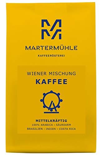 Martermühle | Kaffee Wiener Mischung (250g) | Gemahlen | Premium Kaffeebohnen aus Brasilien, Indien, Costa Rica | Schonend geröstet | Filterkaffee säurearm | 100% Arabica