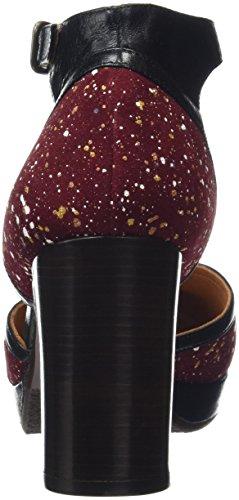 Chie Mihara Xuca, Scarpe Col Tacco con Cinturino a T Donna Multicolore (Multicolor (Splash Granate))