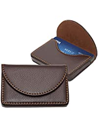 Storite Leather Pocket Sized Stitched Business/Credit/Debit Card Holder Wallet for Gift