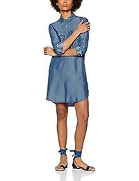 FIND Vestido Camisero de denim para Mujer