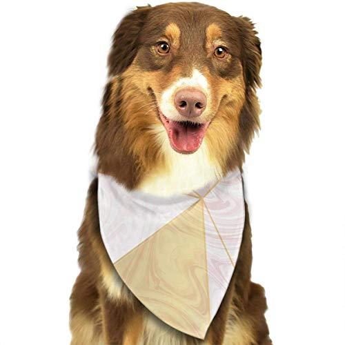 Hipiyoled Pet Bandana Bibs 1Pack Printed Cute Cowboy Bandana Party Favor Scarf Headband Handkerchiefs (Low Poly On Rose Gold Marble Texture)