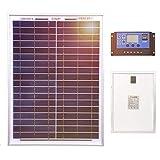 Dokio Panel Solar de policristalino para Batería DE 12 V (20 W)