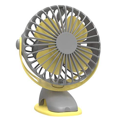 Protable-batterie (CERU Mini-Fan Geschwindigkeit einstellbar USB Clip auf Fan Mini Batterie protable Fan für büro Desktop Reise Home)