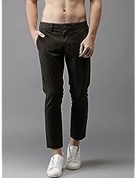 Oshano Men's Formal/Casual Black Poly Cotton Solid Slim Fit 1 Trouser(OSH_T_BLCK1)