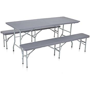 Rekkem Table 180 PliablesJardin Pliante Bancs Cm Et 2 QdBtsrChox