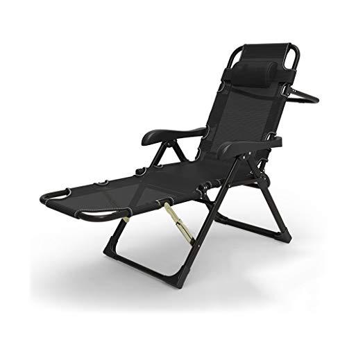 Balkonstuhl Schwerelosigkeit Stuhl Recliner Balkonstuhl Freizeit Lounge Chair Starke Tragfähigkeit Metall Balkon im Freien -