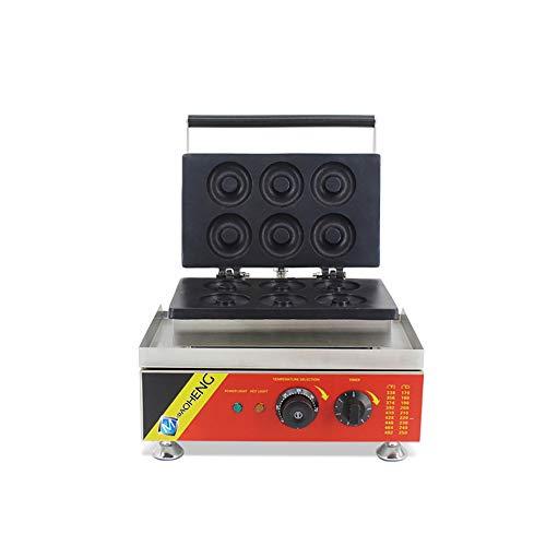 Macchina per waffle ciambella ciambella in acciaio INOX con 6stampi Donuts 220V50HZ