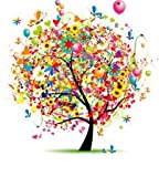 Besprechbare Audiogrußkarte - 120 Sekunden - Ballonbaum
