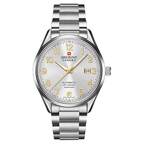 SWISS MILITARY-HANOWA Herren Analog Quarz Uhr mit Edelstahl Armband 05-5287.04.001