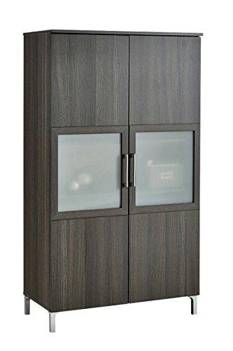 Armario vitrina de 2 puertas con cristal de salón...