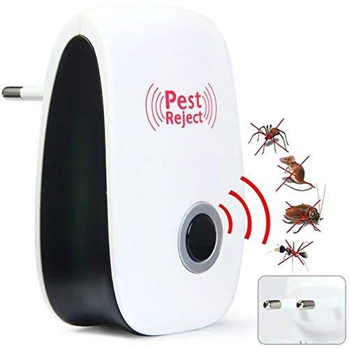 SJZV Ultraschall-Schädlingsbekämpfer, Elektronisch Abweisendes Mittel für den Innenbereich, Keine Chemikalien - 100{2ce82e0a44177a67c357b4cf7fb598c98ef6489e1bbd4cce2df3096a14bde235} Haustiersicher - für Menschen und Haustiere geeignet Pest Warrior(2er-Pack)