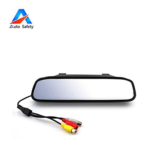 Auto Safety 4.3 Zoll Digital-Farben-TFT LCD 16: 9 Schirm-Auto-Rückspiegel-Sicherheits-Konverter für Kamera Mehrsprachig (Nissan Für Auto-teile Spiegel)