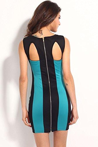 E-Girl femme Vert SY21301-3 mini robe Vert