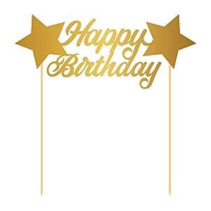 Folat 65140 Happy Birthday - Decoración para Tartas, diseño de cumpleaños
