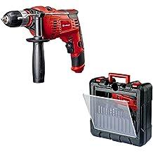 Einhell TC-ID 1000 Kit - Pack taladro percutor y 15 piezas de perforación, 1010 W, 220 - 240 V, color rojo y negro