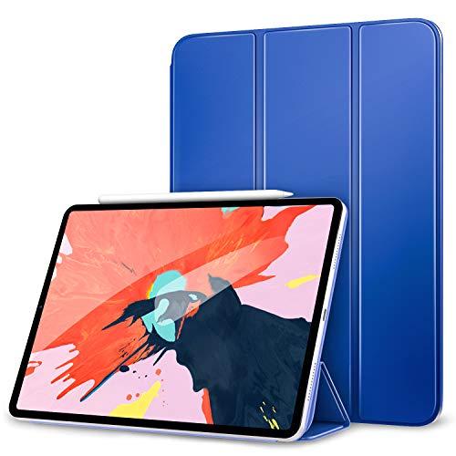 MoKo Hülle für iPad Pro 12.9 2018, Ultra Schlanke Schutzhülle mit Magnetverschluss, Auto Schlaf/Aufwach Funktion Smart Cover für iPad Pro 12.9 2018 - Marineblau