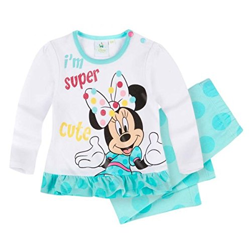 Disney minnie babies maglietta e leggins - turchese - 24m