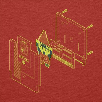 TEXLAB - The legendary Hero in a Cartridge - Herren T-Shirt Rot