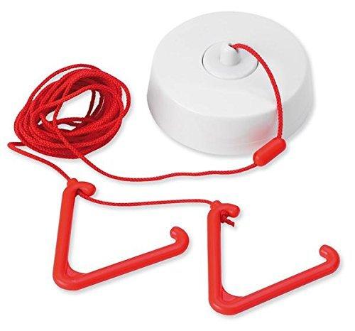 C-Tec Quantec Qt607 Toilet Alarm Ceiling Pull Unit 3M Cord, 2X Pull Bangles - EU/UK